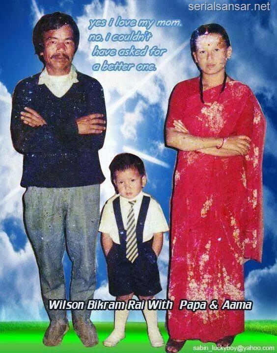 takme budho wilson with parents
