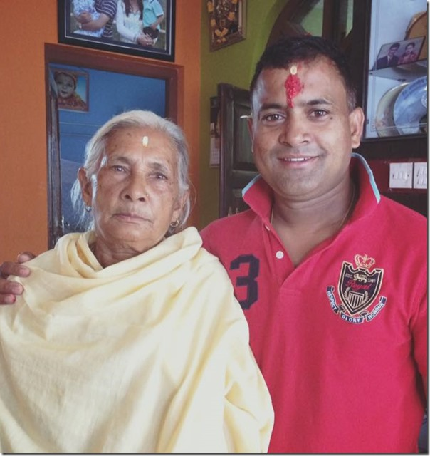 jitu nepal with grandmom on birthday