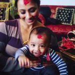 Miss Nepal sons' first Dashain, Malvika Subba and Jharana Bajracharya son celebrate Dashain