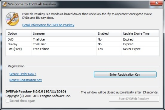 DVDFab Passkey Serial Key