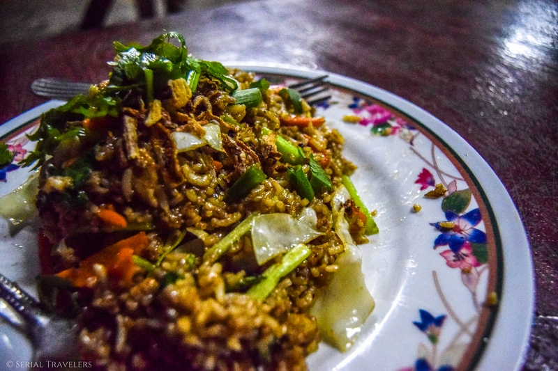serial-travelers-malaisie-taman-negara-guesthouse-matleon-malaysian-food-fried-rice-chicken