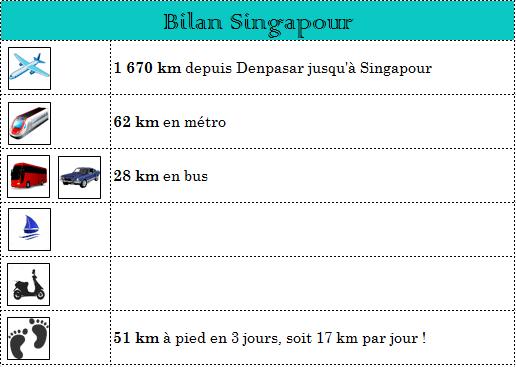 Tableau bilan Singapour