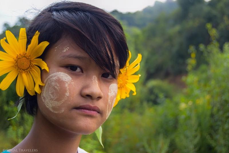 serial-travelers-myanmar-trek-kalaw-inle-fille-fleur