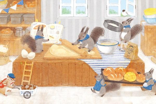灰色リスのパン屋さん