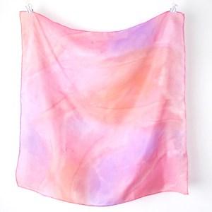 pink, peach purple silk neck scarf