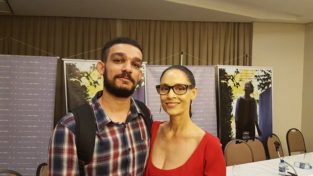 Lucas Fernandes e Sonia Braga