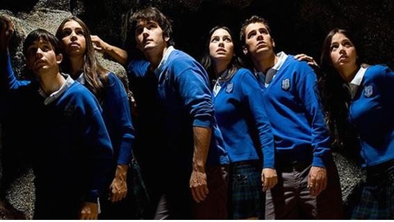 Elenco da série espanhola premiada e de grande sucesso El Internado (2007-2010).