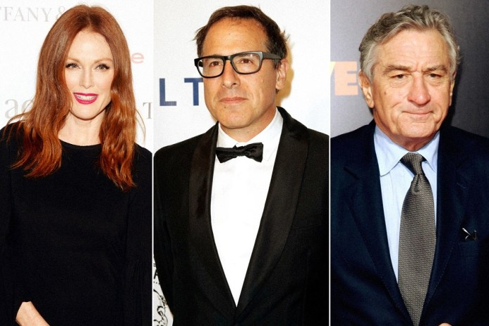 Julianne Moore, David O. Russell e Robert De Niro