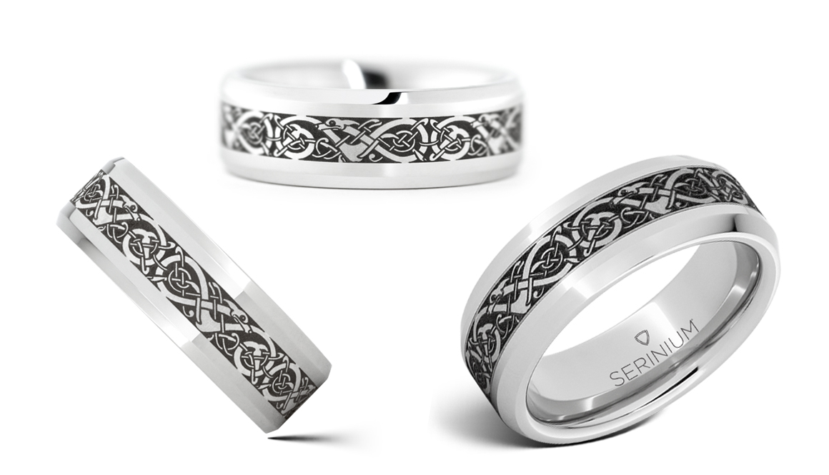 Viking The Traditional Norse Pattern Wedding Rings And