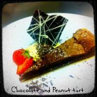 Chocolate and Peanut Tart