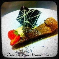 Chocolate and Peanut Tart