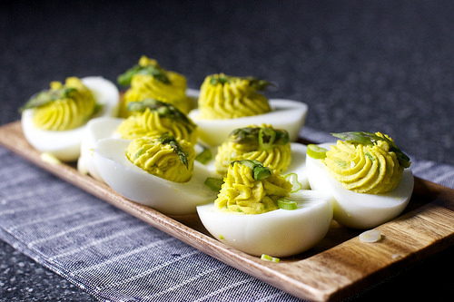 Deviled Eggs on Weekend Finds // Serious Crust by Annie Fassler