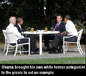 The nice part about having a VP is always having someone available for double-dates.