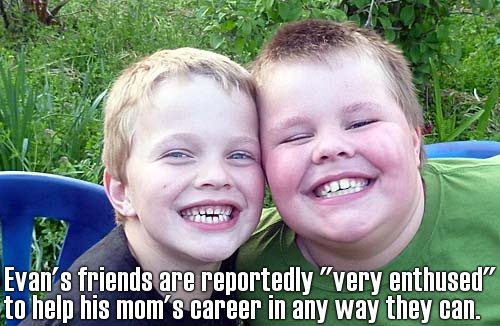Evan's 10-year-old friends agree: Jenny McCarthy is the best. Mom. Ever.