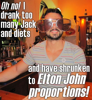 There's such a thing as too much dieting ... or too drunk.
