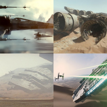 Star Wars: Now with 75% fewer spaceships actually in space.