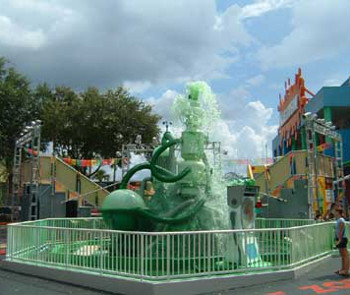 The fountain and Nickelodeon Studios was shut down for the same reason.
