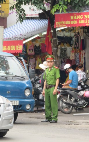 Attempting to keep order on the streets of Hanoi...
