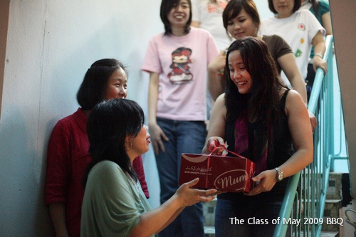 A 'special' cake brought by Mr. & Mrs. Jan Shim fot the Class of May 2009