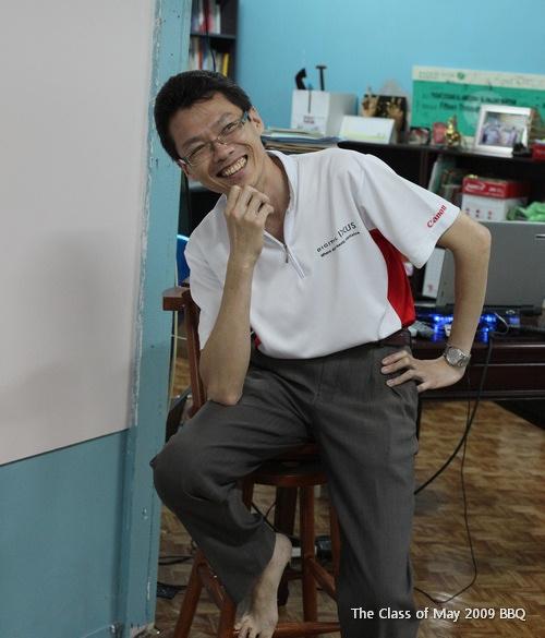 "A true example of the Malay proverb, ""bila kucing pergi, tikus menari-nari..."". Vincent The Canon sitting on my 'sacred' high chair. Macam si Tayie... Hehehe..."