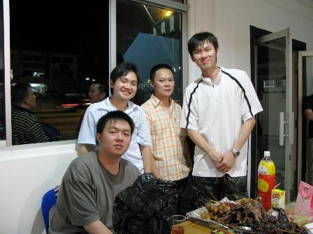 From left: Tom, Adrian, Eveeeee... & Simon