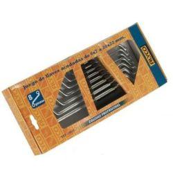 Juego de llaves estrella acodada caja carton 8 piezas