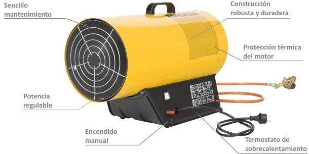 Calentador Portátil a Gas BLP-53M