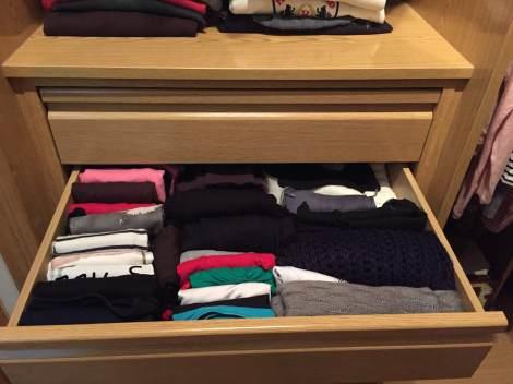 Ordenar los cajones del armario