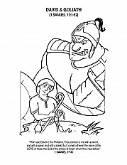 David Goliath 3 Coloring Page Sermons4kids