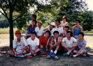 Ohio State 중앙고 동창들, 1987년경 softball game 뒤에
