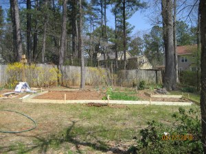 Expanded vegetable garden