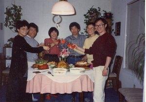 바른쪽 설재규씨 부부, Thanksgiving dinner Atlanta, 1989