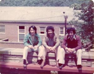 with Persian friends, West Virginia 1977