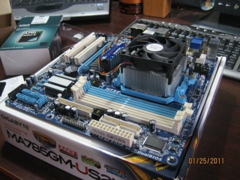 kvm compatible combo: AMD Athlon II X4 635 & GIGABYTE GA-MA785 MOBO