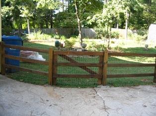 Tobey fence finished, 2005년 8월