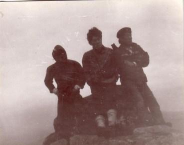1970년 4월, 지리산 정상 천왕봉에서 운해를 내려다보며..