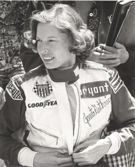 Indy 500 racer Janet Guthrie, 1976