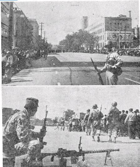 서울 주요 거점에 진주한 혁명군들