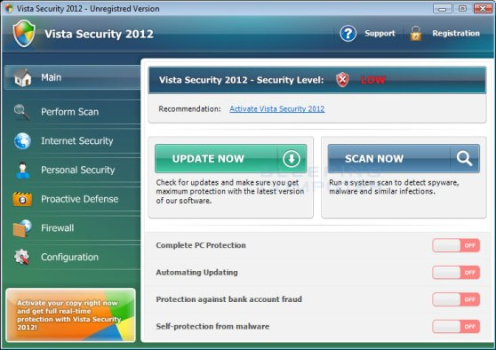 Vista Security 2012