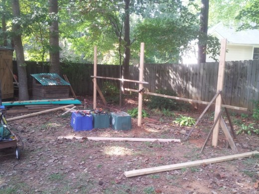 open shed framing 1