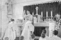 Dr. 구에상 개인성당에서의 장엄미사 (첫미사) 광경 (1963)