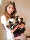 con nuestra preciosa gata Joy