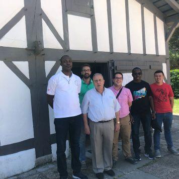 Con el P. Corpus en el Berceau de san Vicente de Paúl