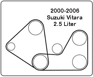20002006 Suzuki Vitara Belt Diagram