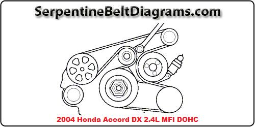 2004 accord belt diagram  auto wiring diagrams know