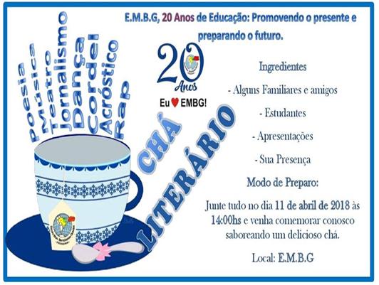 Chá Literário – Escola Municipal Bartolomeu Guedes da Fechadinha