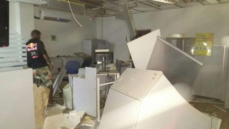 Agências bancárias são alvos de criminosos em Serra Dourada