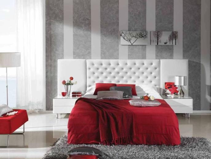 Cabecero cama blanco tapizado a medida