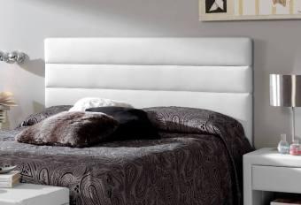 Cabecero de cama tapizado blanco