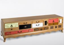 Mueble bajo abedul Vintage